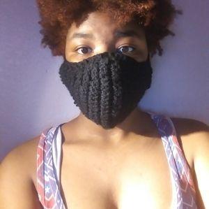 Fashion statement crocheted face masks